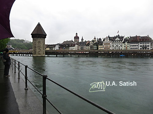 Chapel Bridge; Lucerne; Switzerland; bridge; water; lake; buildings; architecture; outdoor; uasatish; https://uasatish.com;