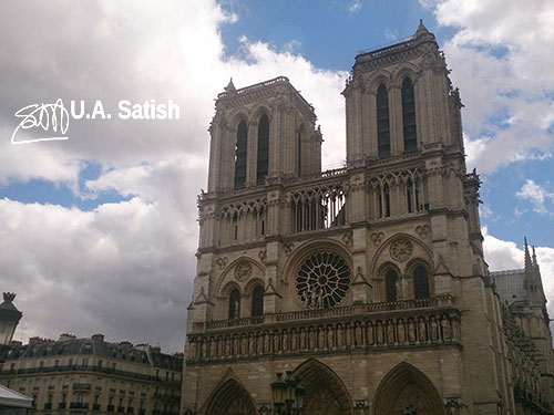 Notre Dame Cathedral; Paris; France; church; architecture; sky; clouds; building; uasatish; https://uasatish.com;
