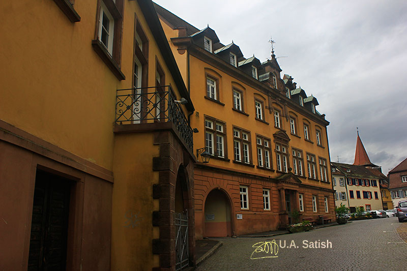 Gengenbach; Germany; architecture; outdoor; town hall; sky; clouds; uasatish; https://uasatish.com; building;