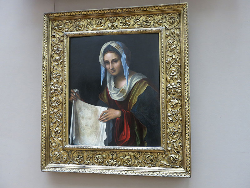 Saint Veronica; Louvre Museum; Paris; painting; France; indoor; uasatish; https://uasatish.com;