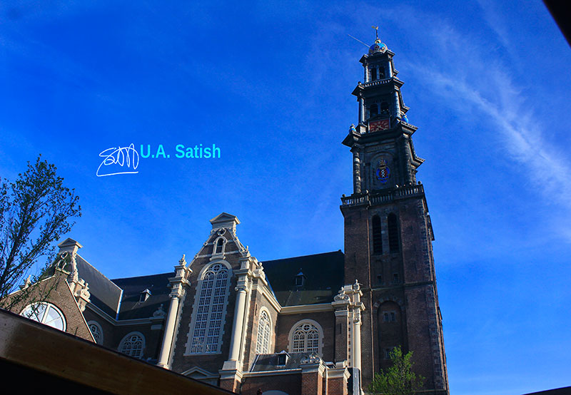 Westerkerk; church; Amsterdam; Netherlands; outdoor; sky; clouds; uasatish; building; architecture;