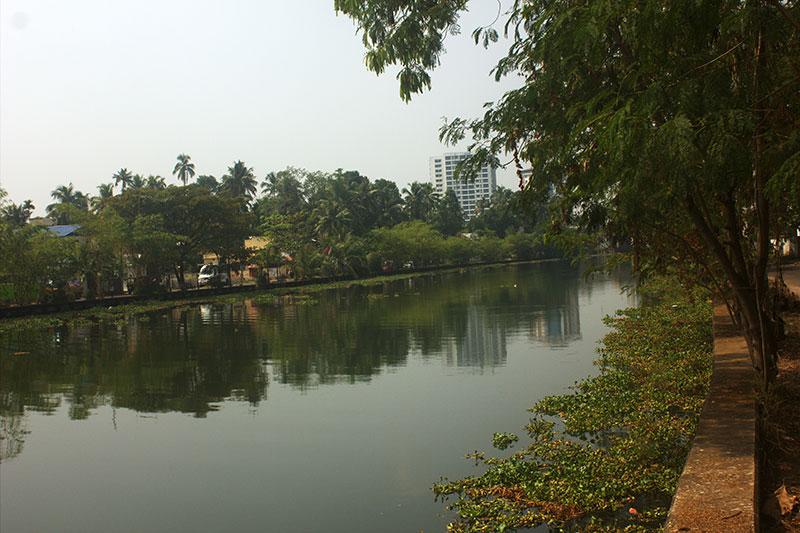 Champakara Canal; Ernakulam; Kochi; India; Kerala; water; sky; uasatish;