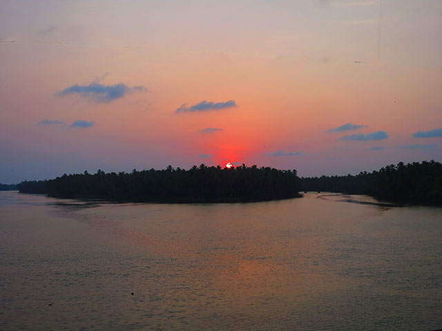 Kariyankode River; Malabar; Kerala; sunset; India; uasatish; https://uasatish.com;