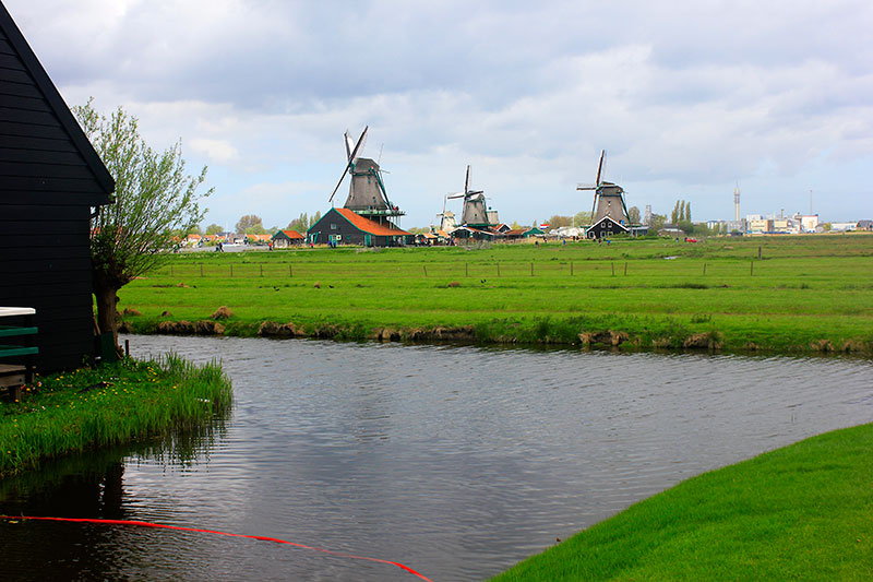 windmills; netherlands; Zaanse Schans; outdoor; water; sky; clouds; uasatish; https://uasatish.com;
