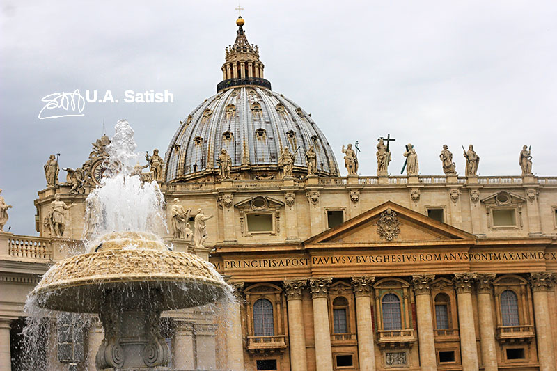 St. Peter's Cathedral; Vatican City; Rome; Italy; architecture; outdoor; uasatish;