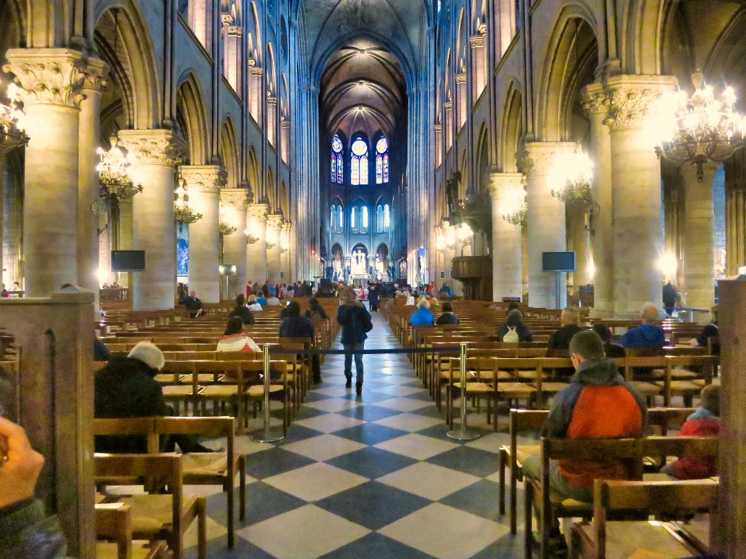 Paris; France; Notre Dame Cathedral; uasatish; interior;