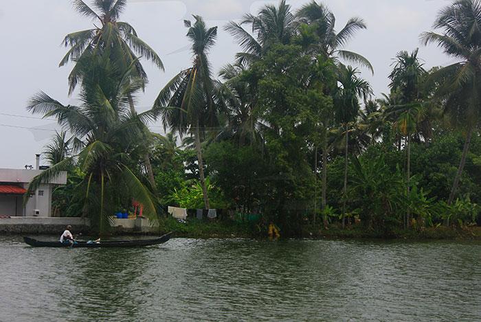 Alappuzha; Kuttanad; Kerala; Kayal; travel; outdoor; uasatish; India; outdoor; trees; building; boat;