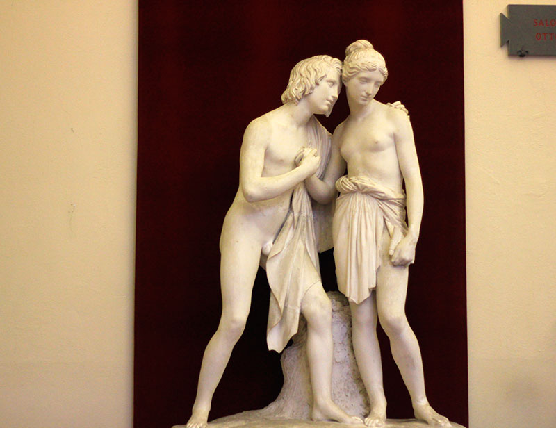 Accademia Gallery; Florence; Italy; art museum; Daphne and Chloe; indoor; travel; uasatish; Firenze;