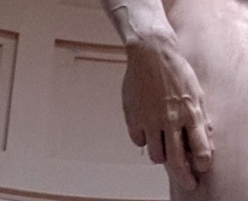David; Michelangelo; Florence; Italy; Accademia Gallery; art museum; indoor; travel; uasatish; https://uasatish.com; marble sculpture; hand;