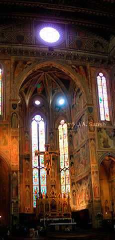 Basilic di Santa Croce; Florence; Italy; indoor; travel; uasatish;