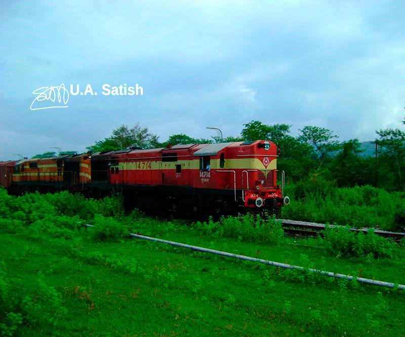 Freight Train, Chiplun, Konkan, India, travel, outdoor, uasatish