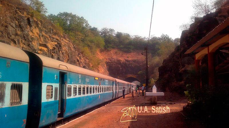 Ukshi, railway station, Konkan, travel, outdoor, India, Maharashtra, uasatish