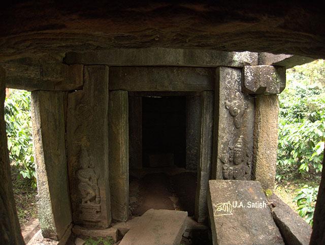 Jain temple; ruins; Wayanad; Kerala; India; granite carvings; uasatish; Punchavayal;