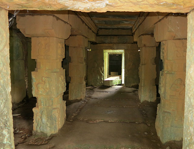 Jain temple; Punchavayal; Wayanad; Kerala; India; temple; ruins; granite carvings; uasatish;