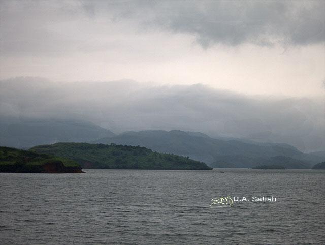 Banasura Sagar Lake; Wayanad; Kerala; India; water; sky; clouds; outdoor; uasatish; dam;