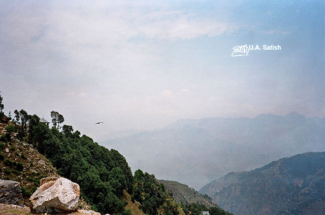 Dallhousie; Himachal Pradesh; India; nature; outdoor; travel; sky; bird; rock; clouds; uasatish;