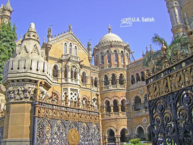 Mumbai CST; Mumbai; Bombay; Victorian Archirecture; outdoor; UNESCO World Heritage Site; travel; uasatish; India;