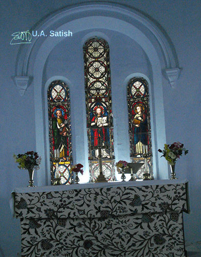 stained glass; Dalhousie; Himachal Pradesh; India; St. John's Church; travel; uasatish;