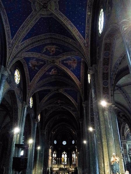 Basilica di Santa Maria Sopra Minerva; Rome; Italy; interior; ceiling; church; travel; uasatish;
