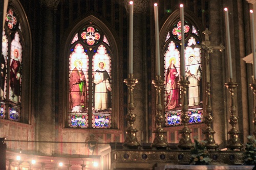 Basilica di Santa Maria Sopra Minerva; Rome; Italy; church; architecture; travel; uasatish; stained glass windows;