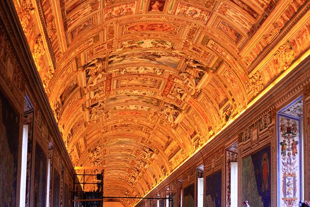 Vatican Museums; Vatican City; Rome; Italy; uasatish; museums; hallway;