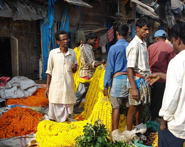 Flower Market; Kolkata; Calcutta; India; outdoor; uasatish;;