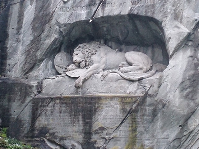 Lion Monument; Lucerne; Switzerland; outdoor; sculpture; uasatish;