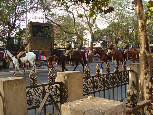 Esplanade; mounted police; Kolkata; Calcutta; outdoor; horses; uasatish; India;