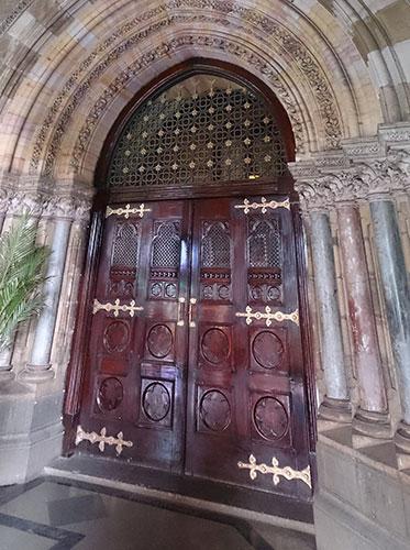 Mumbai CST; Mumbai; Bombay; India; UNESCO world heritage site; wooden door; uasatish; Mumbai CST Heritage Tour;