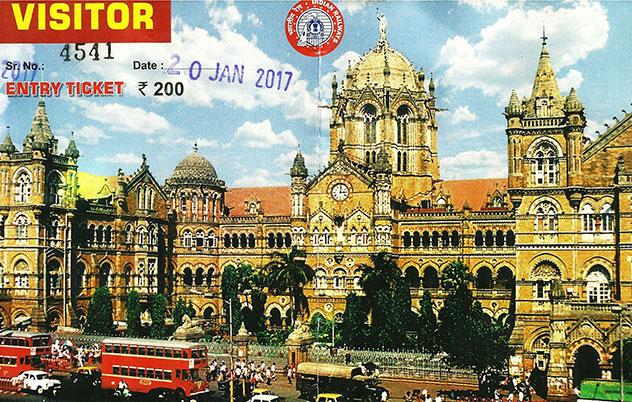 Mumbai CST; Mumbai; entry ticket; uasatish; India; heritage tour;