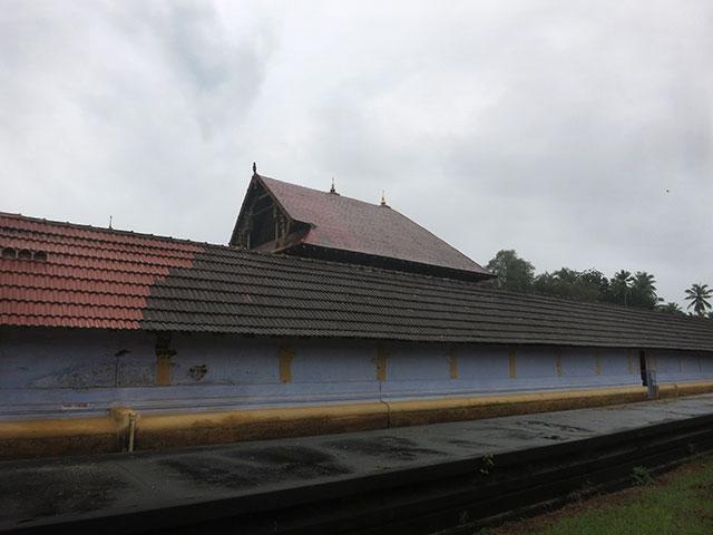 Sree Ramaswamy Temple; Thiruvangad Temple: Thalassery; Kerala; India; architecture; outdoor; uasatish; building; Thiruvangad; outer wall;
