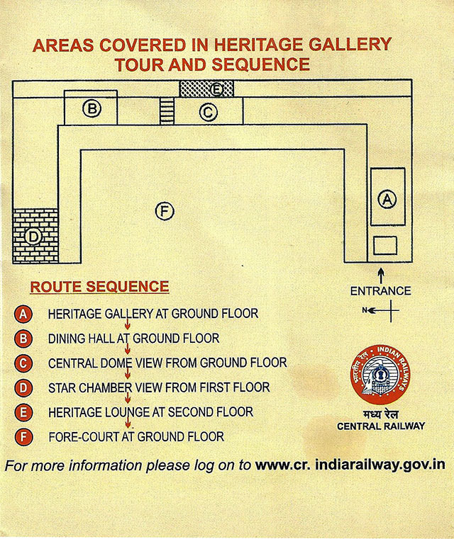 route map; heritage tour; Mumbai CST; India; Central Railway; uasatish; Mumbai; Bombay;