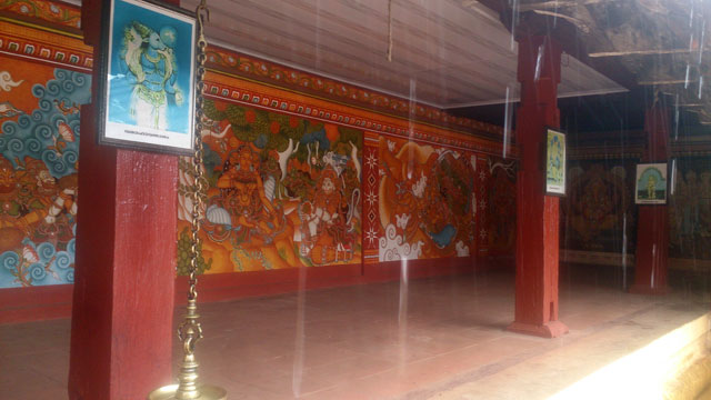 Sree Ramaswamy Temple; Thiruvangad Temple: Thalassery; Kerala; India; architecture; outdoor; uasatish; building; Thiruvangad; wall paintings;