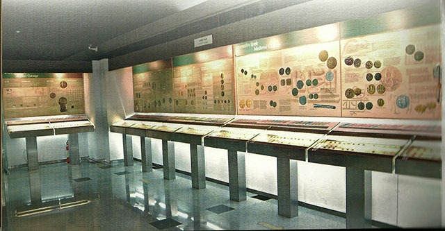 RBI Monetary Museum; Mumbai; India; coinage section;