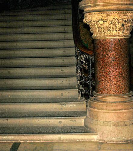 Mumbai CST; Mumbai; Bombay; India; UNESCO World Heritage site; architecture; uasatish; stairs;