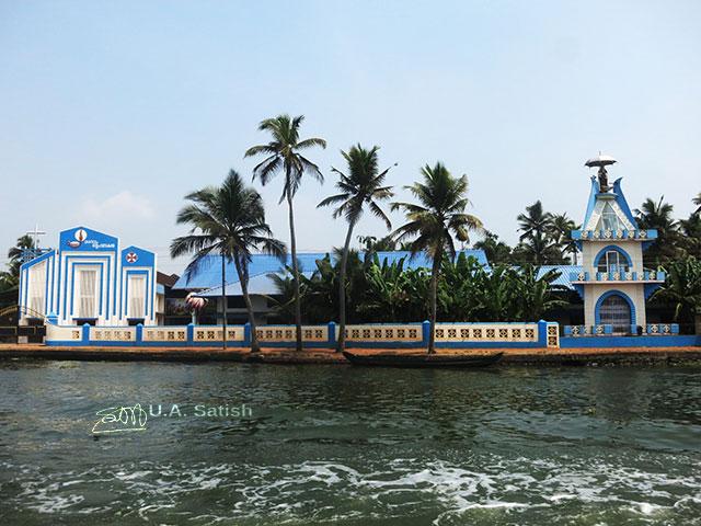 church; Kainakary; Kerala; India; water; sky; building; uasatish;