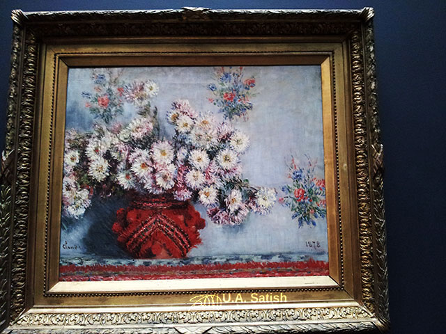 Musée d'Orsay; Paris; France; museum; indoor; uasatish; painting; Chrysanthemums; Claude Monet;;
