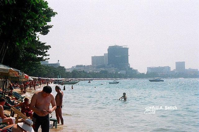 Pattaya Beach; Thailand; beach; sea; sand; sky; uasatish;