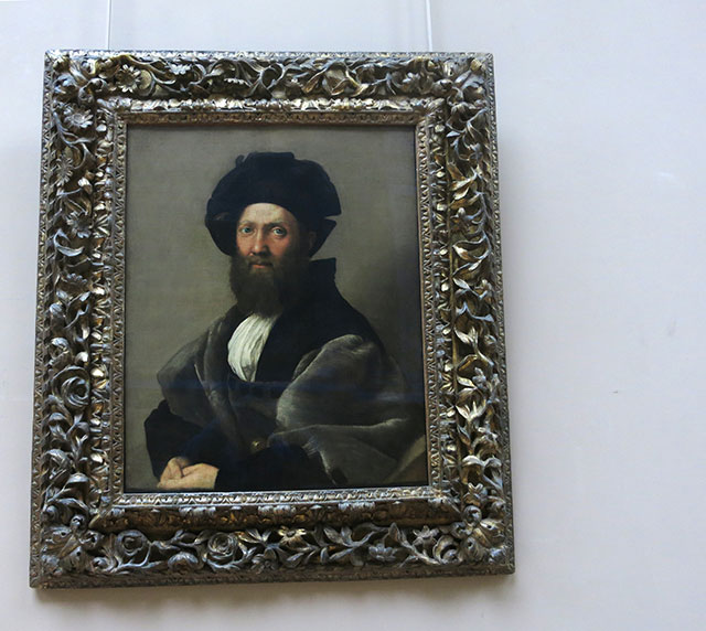 Portrait; Raphael; Louvre Museum; Paris; France; Baldassare Catiglione; uasatish; oil painting;