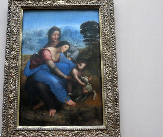 Painting; Leonardo da Vinci; Louvre Museum; Paris; France; Virgin and Child with St. Anne; uasatish;