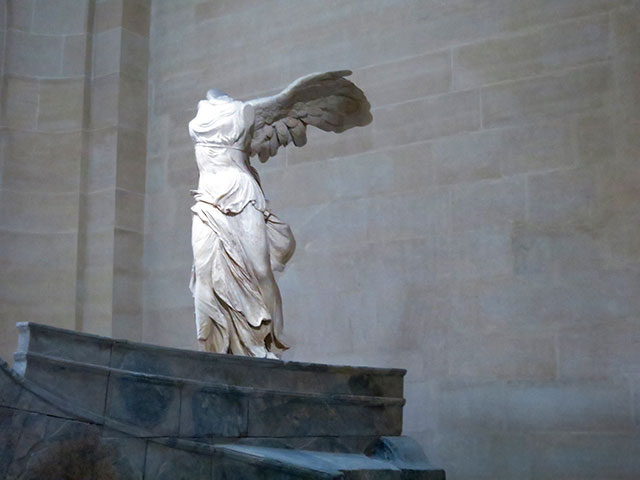 Winged Victory of Samothrace; Greek sculpture; Louvre museum; Paris; France; uasatish;