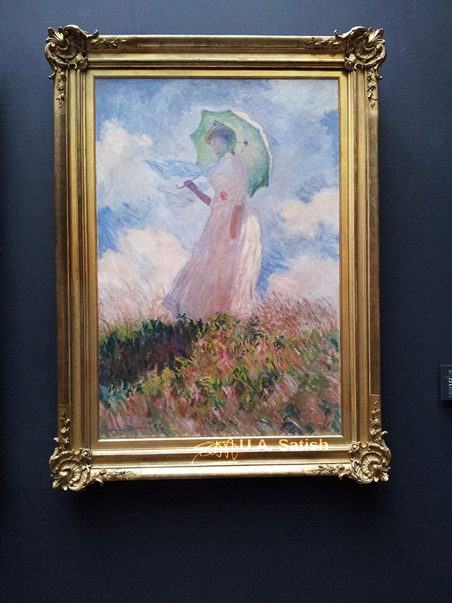 Museum d'Orsay; Paris; France; museum; indoor; painting; Woman with Parasol; Claude Monet;