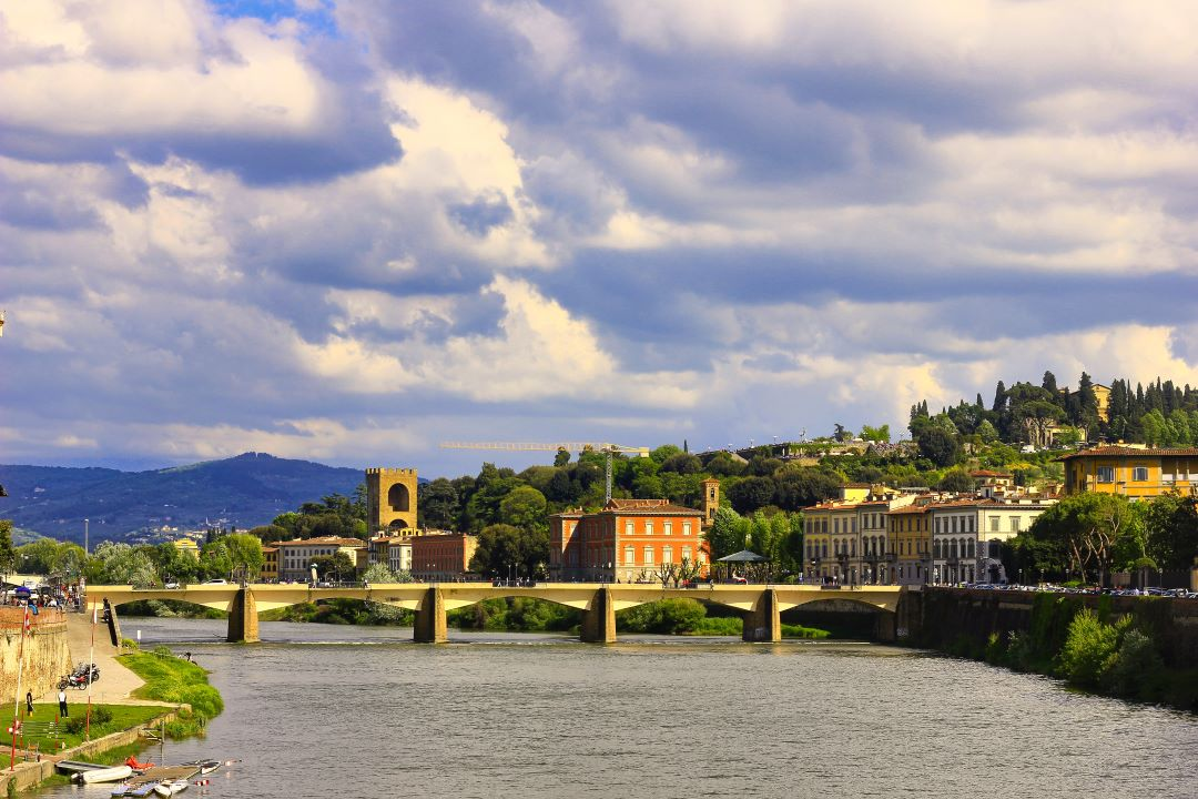 Florence; Italy; River Arno; bridg; sky; clouds; uasatish;