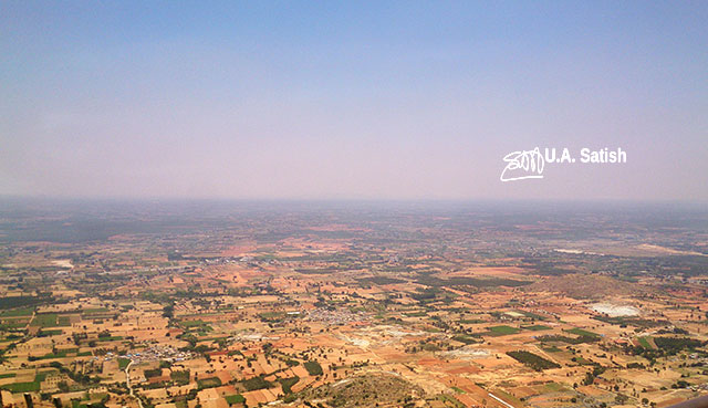 Nandi Hills; Bangalore; Nandi Temple; #ancient Dravidian rock temple; #India; #architecture; uasatish; plains;