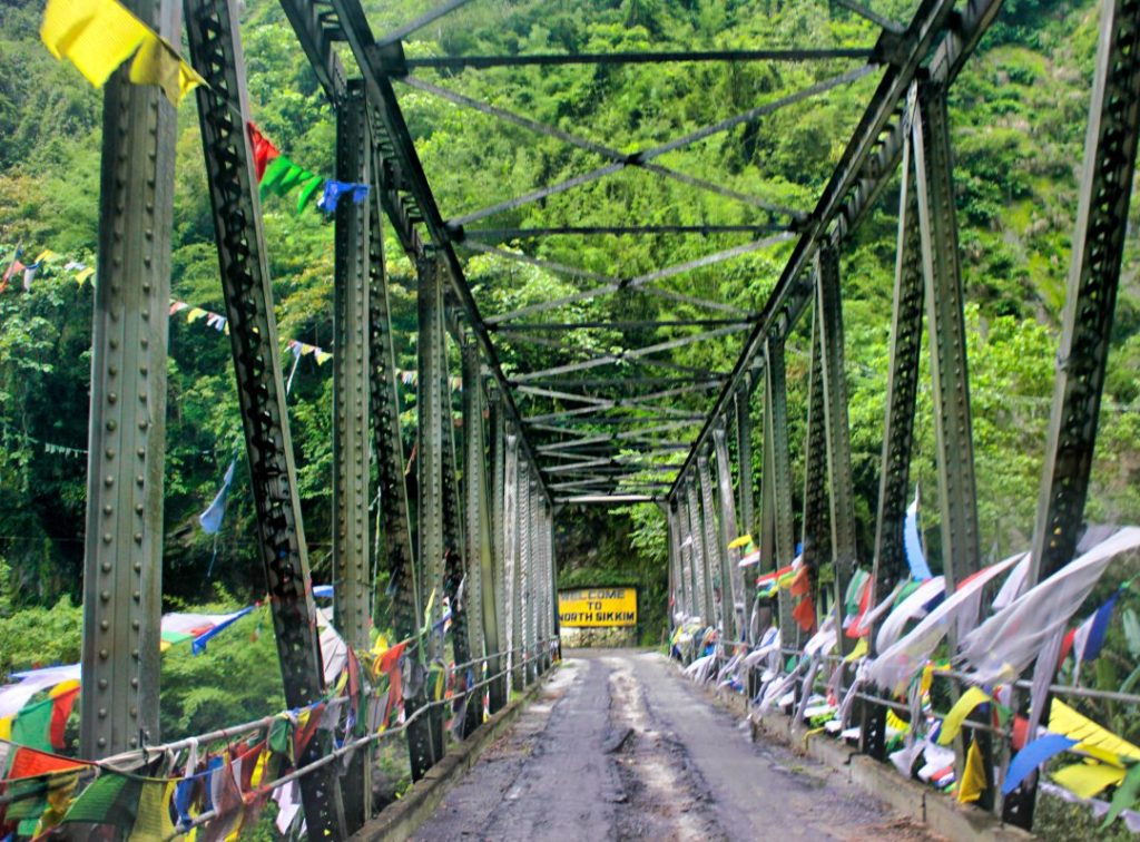 Bridge in North Sikkim; By Road to Lachung from Gantok; usatish;