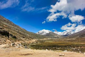 Zero Point; Sikkim; uasatish; snow; blue sky; white clouds;