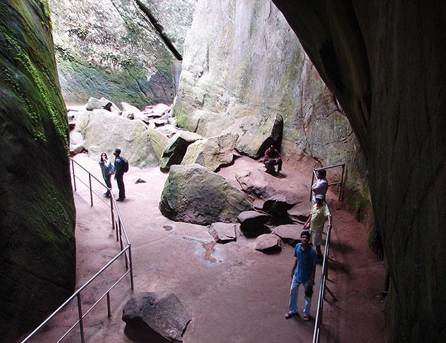 Edakkal Caves; Kerala; India; Wayanad; rocks;