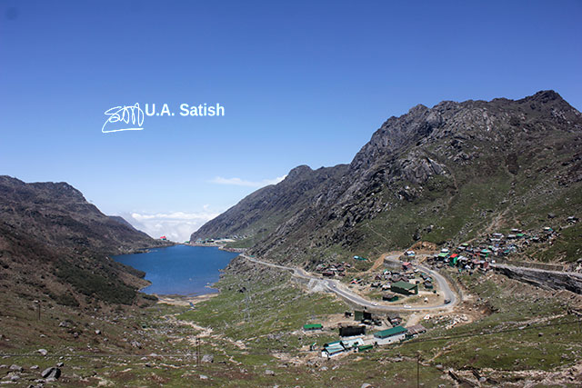 Changu Lake; East Sikkim; India; lake; hills; sky; clouds; uasatish; blue;