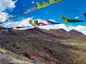 Prayer Flags by the Roadside; Nathu La Pass; Sikkim; uasatish; Chinese border;