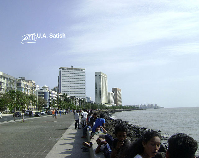 Marine Drive; Mumbai; India; uasatish;